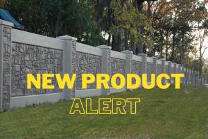 new product alert over precast concrete separating playground