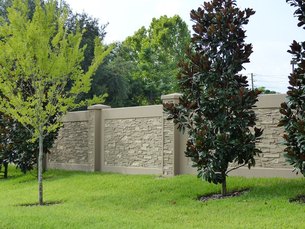 precast concrete in beautiful green setting with trees and grass