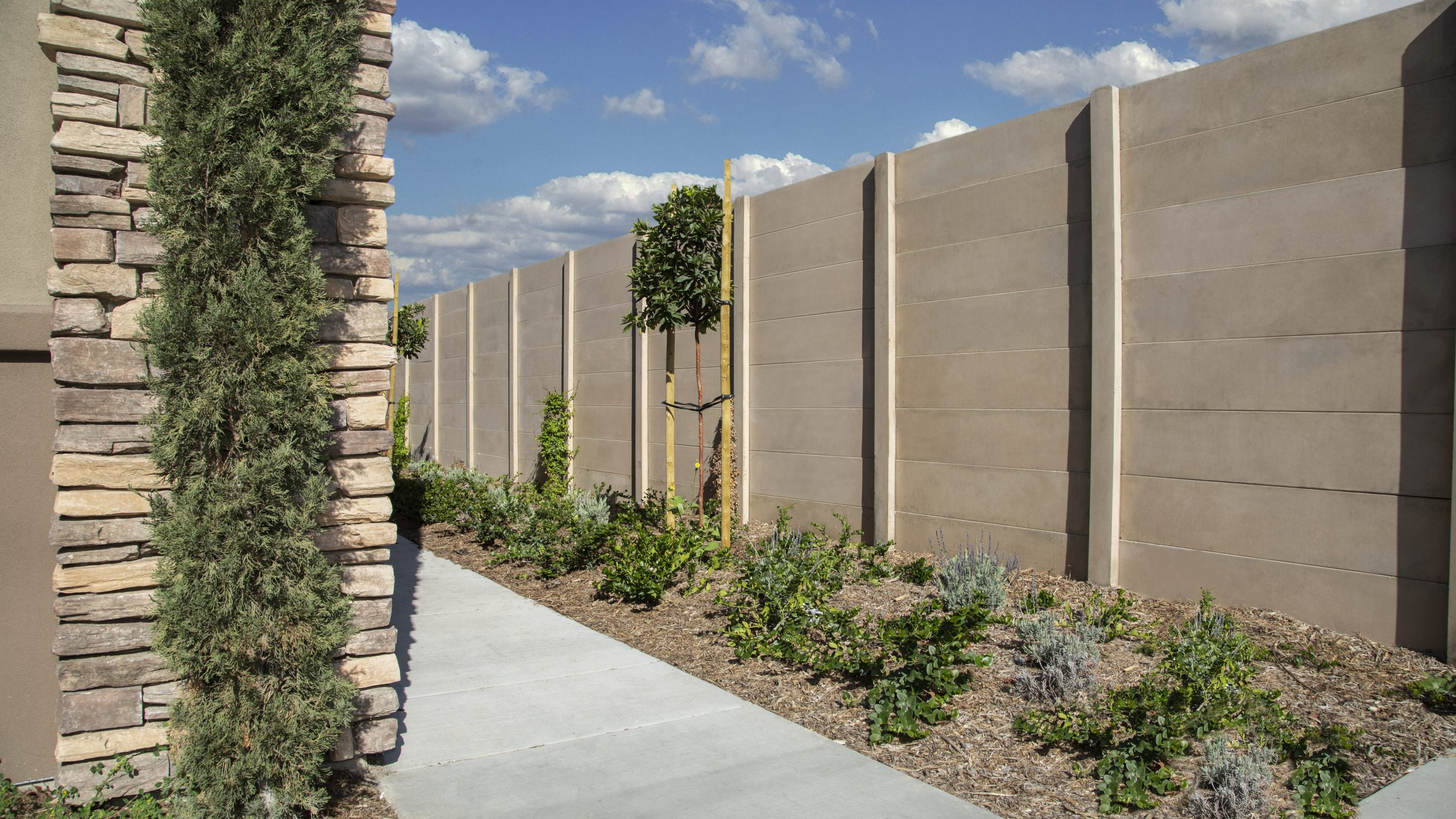 Smoothstone precast concrete outside of a residential area