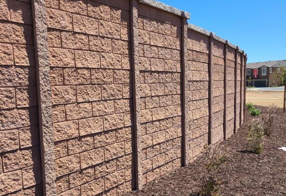 precast concrete fence built by American precast concrete in Pittsburg, California.